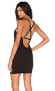 Mini Body con Dress in Black