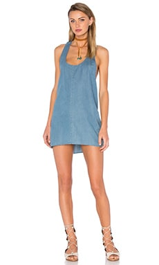 Park Lane T Back Dress in Dirty Chambray