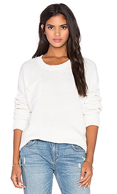 Classic Cotton Wool Blend Knit in Worn White