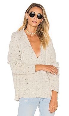 Lone Pine Deep V Neck Sweater in Cream