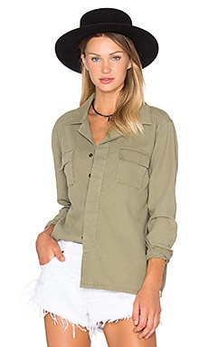 Desert Ranch Button Up in Militaire