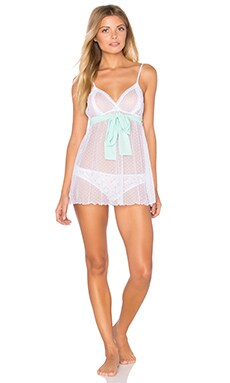 Coucou Lola Coucou Chemise in White & Minty