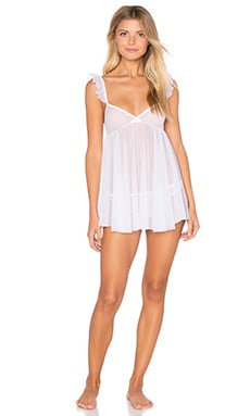 Whisper Ruffle Chemise in White