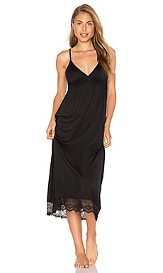 Venice Lace Hem Gown in Black