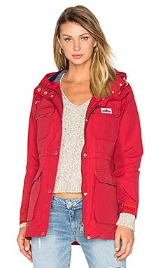 Kasson Hooded Mountain Parka in Red