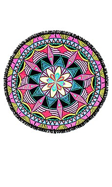 Round Fringe Beach Towel in Mandala