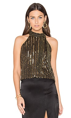 Theia Top in Gold