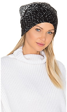 Ombre Dot Beanie in Black & White