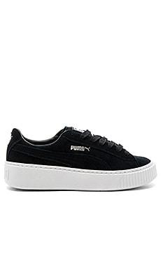 Creeper Core Sneaker in Puma Black & Puma White