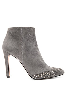 Embellished Bootie in Suede Grey