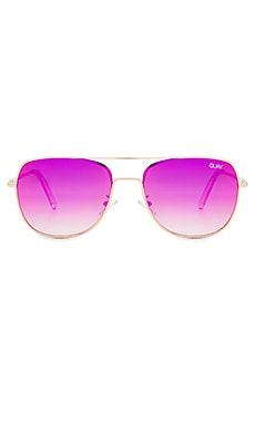 Running Riot Sunglasses in Gold & Pink Mirror