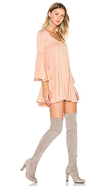 Flutter Sleeve Mini Dress in Rosewater
