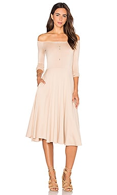 Long Sleeve Lovely Dress in Bamboo