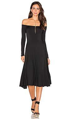 Long Sleeve Lovely Dress in Black