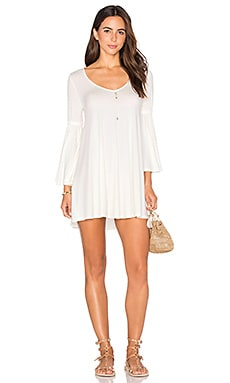 Flutter Sleeve Mini Dress in White
