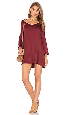 Flutter Sleeve Mini Dress in Heirloom