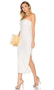 Luxe Rib Bobbi Dress in ivory