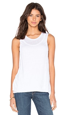 Double Layer Tank in Bright White