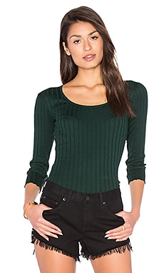 The Rib Long Sleeve Top in Scarab