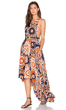 Hendrix Dress in Orange