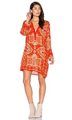Autumn Sunset Dress in Orange