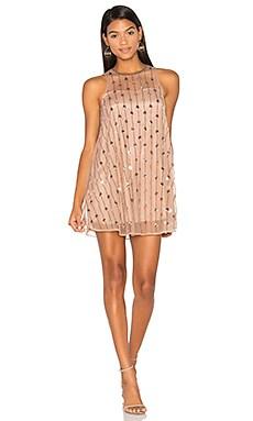 Crystal Rose Dress in Beige