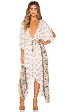 Golden Hour Wrap Dress in Multi