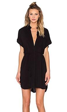 Savannah Button Down Dress in Black