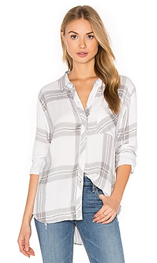 Hunter Button Down in White & Sterling