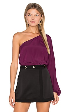 Kanye One Shoulder Top in Sangria