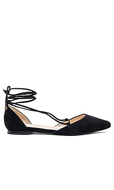 x For Love & Lemons Paloma Flat in Black Suede