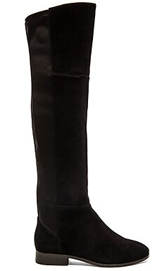 Gia Boot in Black Suede