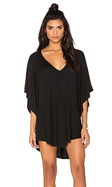 Liza V-neck Tunic in Obsidian