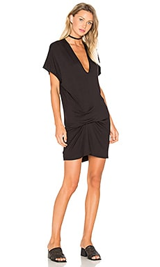 Marge Dress in Black French Terry