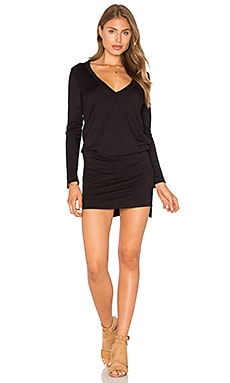 Phillis Romper in Black French Terry