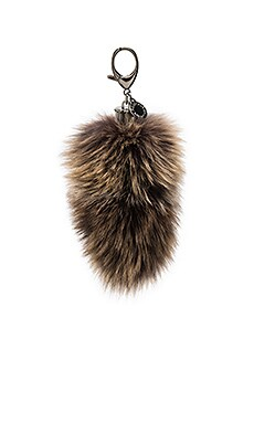 Fox Tail Bag Charm in Brown Multi