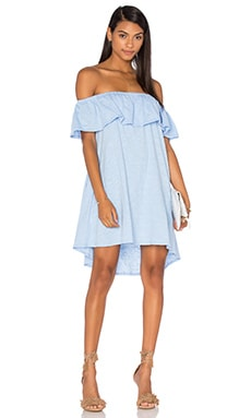 Diosa Dress in Denim Blue