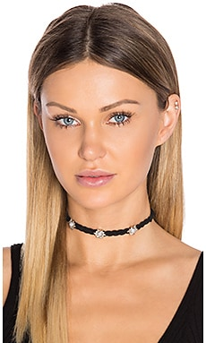 Braided Leather Choker in Silver & Pearl