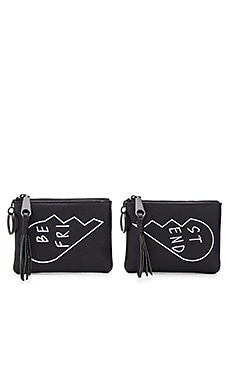 Betty Best Friends Pouch in Black