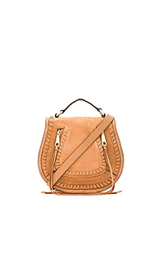 Small Vanity Saddle Bag in Almond