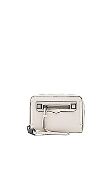Mini Regan Zip Wallet in Antique White