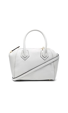 Micro Perry Satchel Bag in White