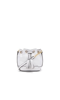 Micro Lexi Bucket Bag in White