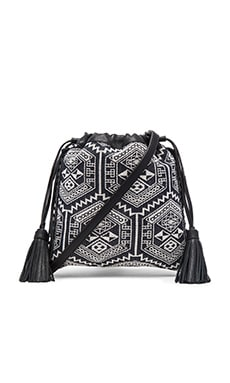 Moto Drawstring Crossbody Bag in Aztec Multi