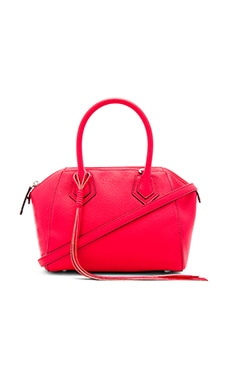 Micro Perry Satchel Bag in Dragon Fruit