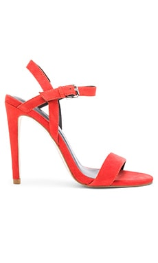 Rosie Heel in Lobster Kid Suede