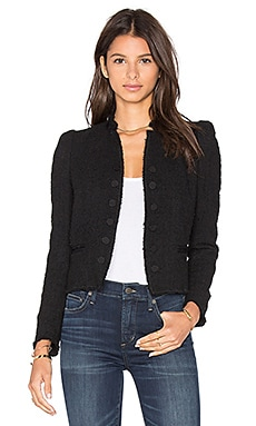 Boucle Tweed Jacket in Black