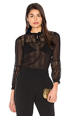 Lace Top in Black