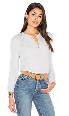 Button Top in Ice Blue