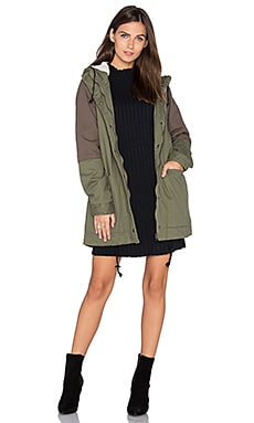 Midnight Faux Fur Lined Jacket in Dusty Olive
